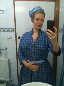 An old photo but I still wear this dress often. It has a full circle skirt.