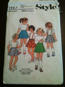 I think this pattern might be one my mother bought for when I was little. About 30 years old then.